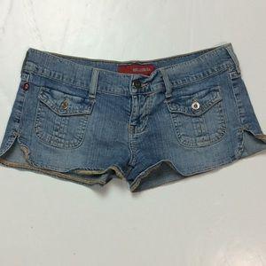 Hollister Womens Denim Booty Cheeky Shorts Sz 3